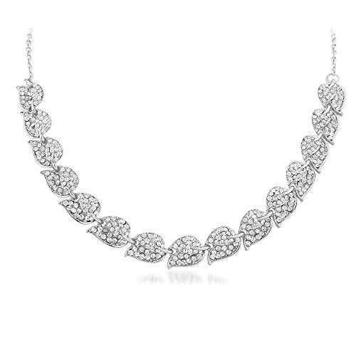 Apara Rhodium Petal Design Encklace Jewellery For Women