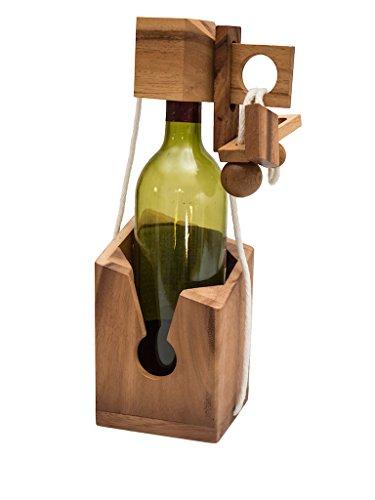 ROMBOL Get Drink? - gefangene Weinflasche, ein teuflisches Seilpuzzle, Verpackung für Weinflaschen,...