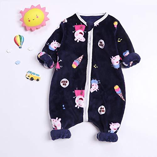 Bella Baby Dicke Flanell Pyjamas, Cartoon-Form, Herbst Und Winter, Weich Und Angenehm Warm Zu Halten,Blue