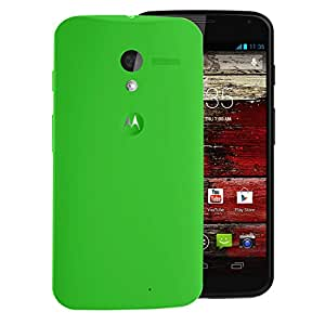 Digione Back Replacement Cover Panel Battery Cover Snap on Case Cover for Motorola Moto X (1st Gen) Green
