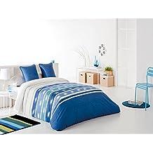 Reig Martí Tamika - Juego de funda nórdica estampada, 3 piezas, para cama de 150 cm, color azul