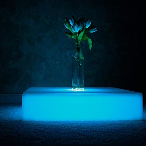 FURSTAR LED Lounge Leuchtmöbel Square TOP LED Tief Couchtisch, Loungetisch, Designtisch