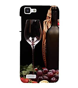 A2ZXSERIES Wine Grape Bottle Back Case Cover for Vivo Y27l back cover (Designer printed cover)
