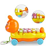 RENNICOCO Cartoon Caterpillar fünf-Ton-Piano-Baby Early Learning Percussion musikalisches Spielzeug kompatibel mit Kindern