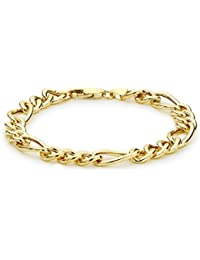 Carissima Gold 9 ct Yellow Gold Figaro Bracelet