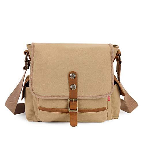Mangetal Große Umhängetasche für Herren Messenger Bag Kuriertasche, Schultertasche von höchster Qualität für Arbeit, Leben, Spielen, Sport (Khaki)