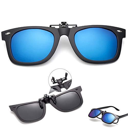 HYDYH SonnenbrillenPolarisierte Linse Clip auf Sonnenbrille über Sonnenbrille Flip-up Brille Clip auf Sonnenbrille für Frauen Männer Schutz-in Damen Sonnenbrille von Bekleidung Accessoires, Silber