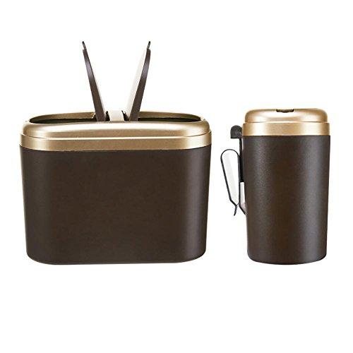 Preisvergleich Produktbild SHIQUNC Auto Mülleimer Kreativ Mode Mini Kunststoff Mülleimer,  Double Cover 0.8l