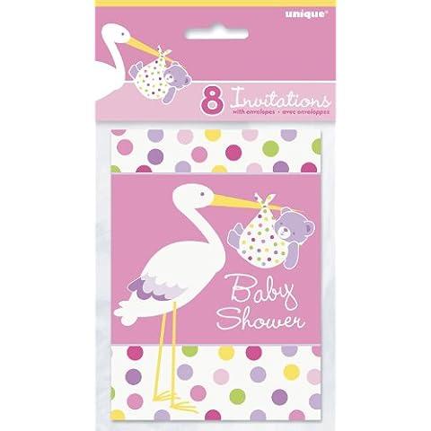 Baby Shower invitaciones, color rosa