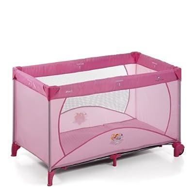 Hauck 606421 Dream'n Play - Cuna de viaje, parque de juegos con diseño Princesas Disney (60 x 120 cm), color rosa