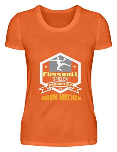 Schuhboutique Doris Finke UG (haftungsbeschränkt) Play Football Handball to warm up - Damenshirt -M-Mandarin Orange