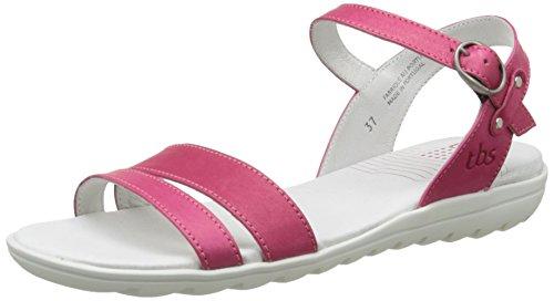 TBS Nikkia Damen Sandalen Pink - Rosa (Fuchsia)