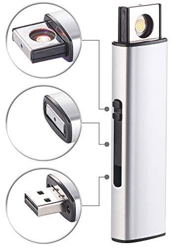 PEARL USB Stick als Feuerzeug: Elektronisches Akku-USB-Feuerzeug, Glühspirale, windgeschützt, 7 Watt (Plasma-Feuerzeug)