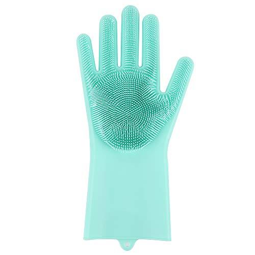 Guanti di lavaggio in silicone riutilizzabili 1 pezzo, guanti termoresistenti, guanti di pulizia multifunzionali per la casa, lavaggio del piatto, lavaggio dell'auto, cura dei capelli per animali