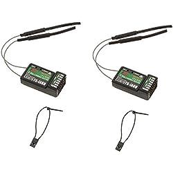 2Pcs 2.4G Flysky FS-iA6B 6Ch Receptor PPM Salida con iBus Puerto Compatible Flysky i4 i6 i10 Transmisor
