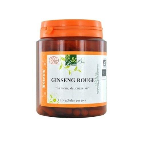 BELLE ET BIO - Ginseng rouge bio - 200 Gélules