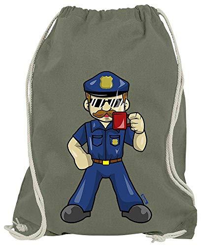 Olive Kostüm Einfach Eine - HARIZ Turnbeutel Polizist Cool Tasse Polizei Witizg Plus Geschenkkarten Olive Grün One Size