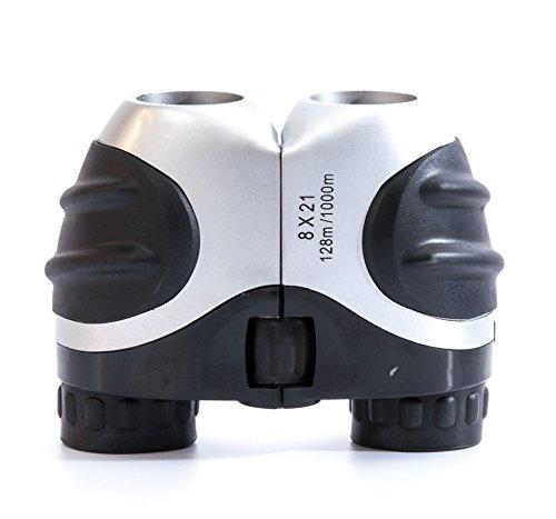 In Tech® 8x 21Fernglas kompakt, Fernglas für Erwachsene-21mm Ziel Ruby Farbige Linsen-komplett mit Tasche und Reinigungstuch-ideal für betrachten, Jagd, Vogelbeobachtung, und Sightseeing
