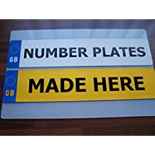Pair Standard GB Euro Number Plates 100% MOT Compliant - Car / Van
