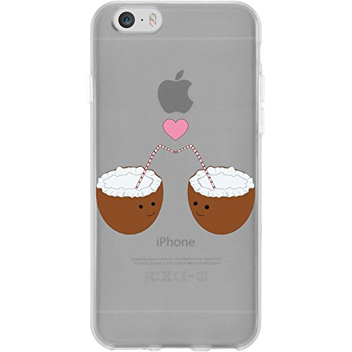 PhoneNatic Case für Apple iPhone 6 Plus / 6s Plus Silikon-Hülle Sommer Coconuts M3 Case iPhone 6 Plus / 6s Plus Tasche + 2 Schutzfolien Motiv 3: Coconuts