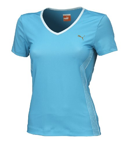 Puma Fitness TP Graphic T-Shirt pour Homme Bleu - Cyan