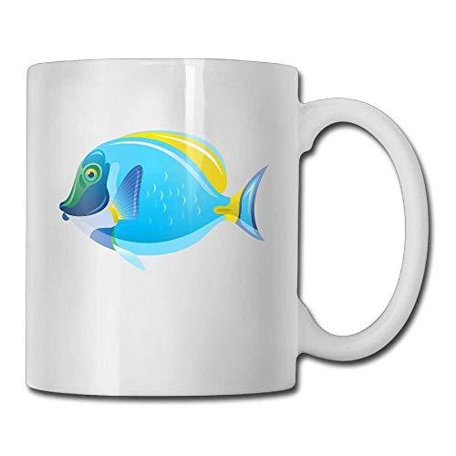 Fish Clip Art Custom Coffee Mugs/11oz Ceramic Tea Cup - Novelty Gift Clip-handle Mug