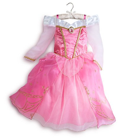 Disney original - Aurora Dornröschen - Rosa Kostümkleid für Kinder - 9 - 10 Jahre