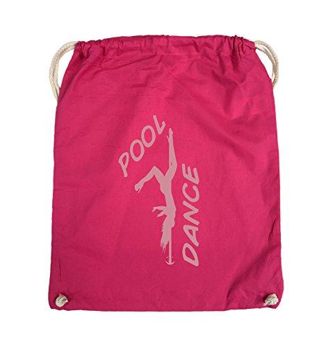 Borse Commedia - Piscina Di Danza - Figura - Turnbeutel - 37x46cm - Colore: Nero / Colore Rosa Dargento / Colore Rosa
