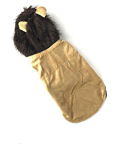 Löwen Mufasa Kostüm Der König - Midlee Löwe Big Dog Kostüm von, Big Dog Large, Beige