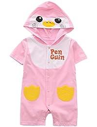 QinMM Mono con Capucha Animal para bebé Niño y Niña, Body Peleles Camisa Linda de