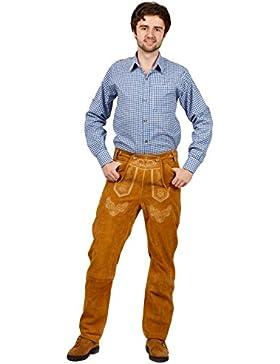 Lange Trachten Lederhose, bequeme Passform, versch. Farben, 100% Echtleder