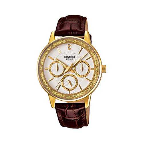 Casio Enticer Analog White Dial Women's Watch - LTP-2087GL-5AVDF (A911)