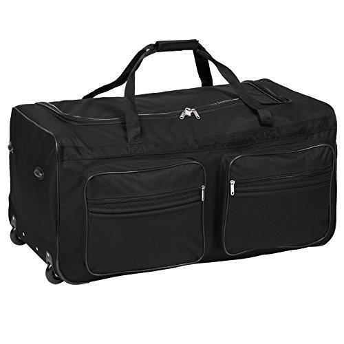 TecTake Grand sac de voyage XXL valise trolley à roulettes | 160 litres | poignée télescopique | diverses couleurs au choix (Noir | No. 402213)