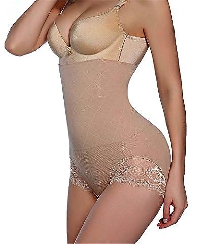 Invisable Butt lifter High Waist Tummy Control Body Shaper Slim Panty for Women (M/L, Beige-high