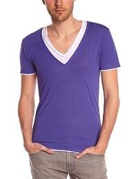 Eleven Paris - Camiseta con cuello redondo de manga corta para hombre