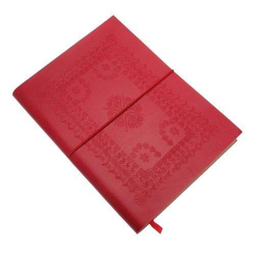 Fair Trade block notes grande colorato goffrato 175 x 230 mm rosso