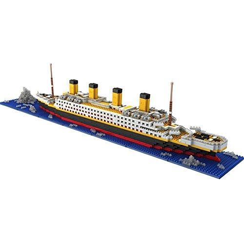 Brigamo Spiele 479 – Titanic Bausteine Schiff, 450 Teile, 60 cm lang, kompatibel mit den gängigen Marken Bausteinen - 2