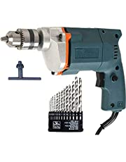 Generic 10mm Electric Drill Machine with 13 Pieces Drill Bit Set (Assorted)