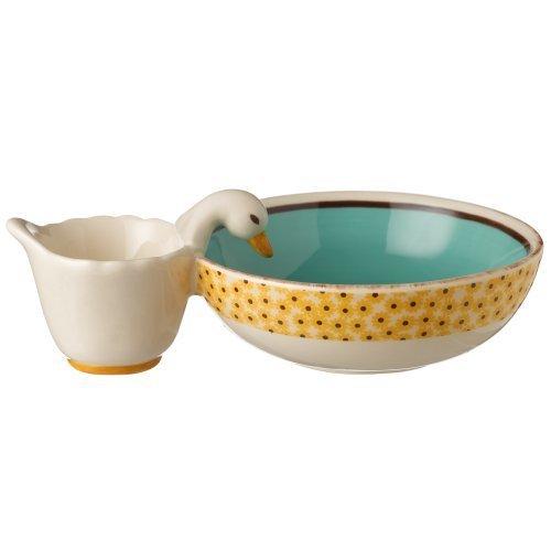 Grasslands Road Ceramic Spring Meadow Duck Olive Server Bowl, 7-Inch by Grasslands Road -
