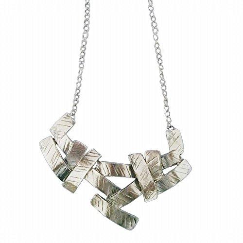 WTTCD Damen Halskette Damen Halskette Anhänger 925 Vintage Halskette Geometric Twill Metallic Accessoires Bekleidungszubehör A5757Q Metallic-twill