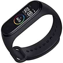 SBA999 SM-4 Waterproof Smart Intelligent Activity Tracker | Fitness Band Compatible to Xiaomi/Oppo/Vivo Mobile Phones Steps,Calorie Counter,BP, Heart Rate Monitor Music,Camera Controller