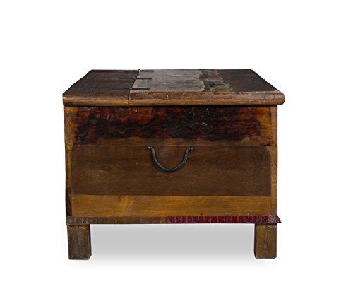 Woodkings® Couchtisch Truhe Wakefield 107x60cm, recyceltes Massivholz antik Teak, Truhentisch vintage, Design Kiste mit Staufunktion, exclusiv, günstig, coffee table storage -