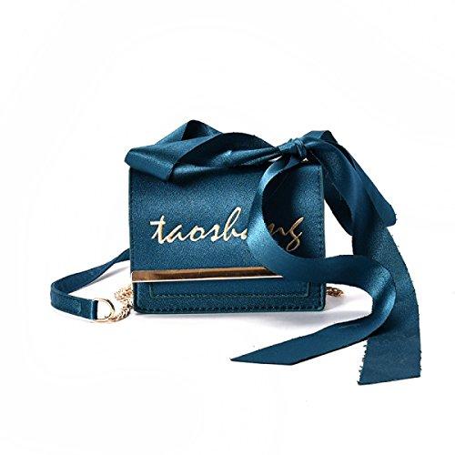 Borsa Femmina Nuova Moda Lato Morbido Piccolo Sacchetto Quadrato Versione Coreana Selvaggio Borsa A Tracolla Borsa Messenger Blue