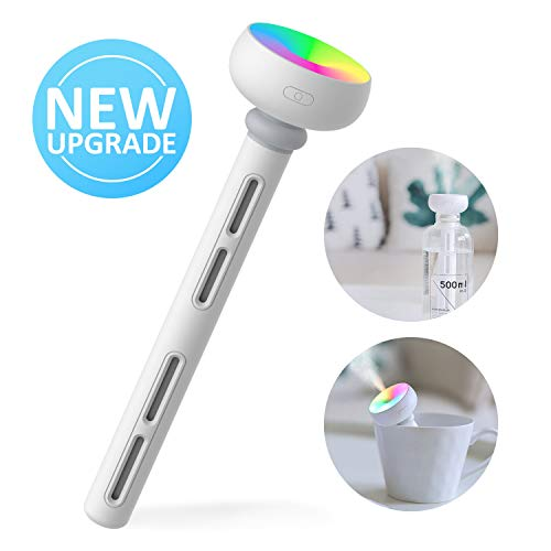 Mocolo Mini Humidificador Portátil USB Ultrasónico Aire Vaporizador con Luz de Led para Viaje, Automóvil, Dormitorio, Oficina, Hotel sin Botella de Agua