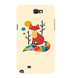 EPICCASE Thinking Fox Mobile Back Case Cover For Samsung Galaxy Note (Designer Case)