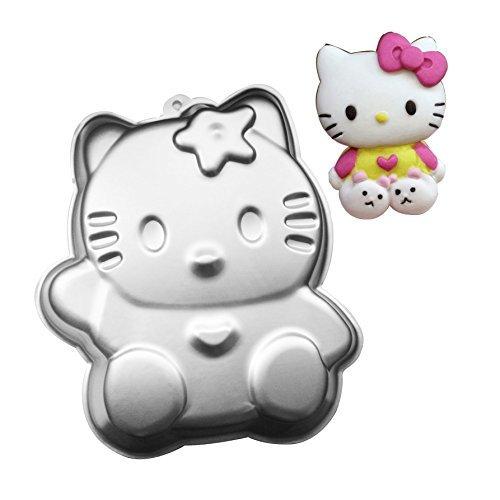 nium Legierung 3D Kuchen Form Backform Dose Kuchen, Pfanne-Tasse Kuchen, Schokolade, Perfekt für Partys-Cupcake Fans (Hello Kitty) ()