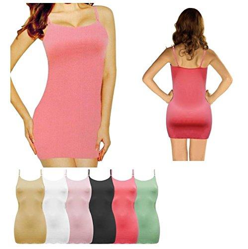Damen Body figurformendes Unterhemd Pink
