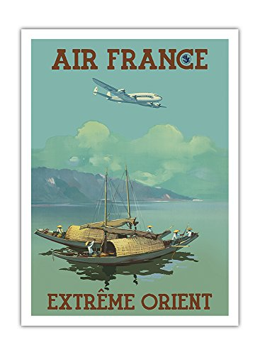 extreme-orient-the-far-east-air-france-vintage-airline-travel-poster-by-vincent-guerra-c1950s-premiu