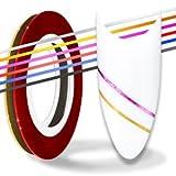 Nail Art Stripes Tape Zierstreifen Packung mit 10