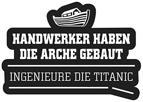 Aufkleber Handwerker Arche BAU (Wetterfest)